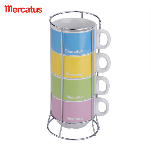 4 in 1 stackable coffee cup