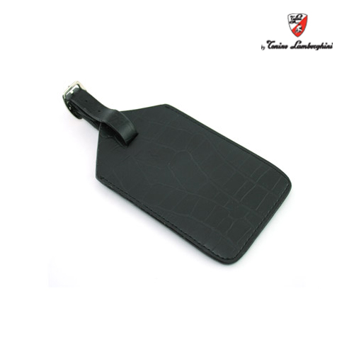Lamborghini Coco Leather Travel Tag