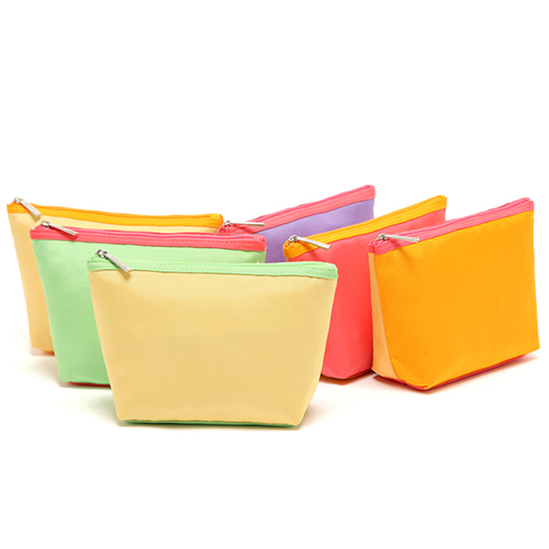 Assorted colors cosmetic pouch