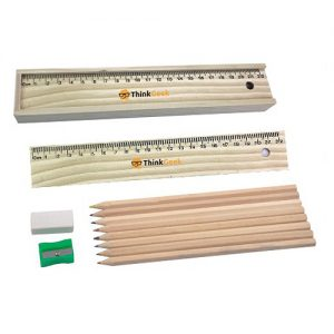 Wooden pencil set