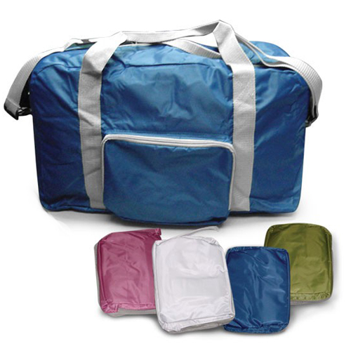 Foldable travel bag with sling
