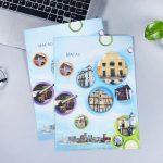 promotional plastic file with custom logo print singapore wholesale