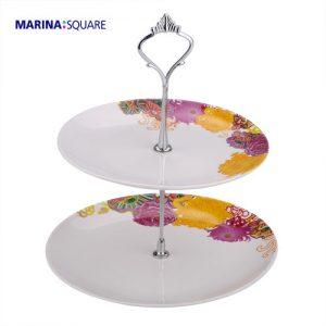 Marina Square CNY 2-Tier Plate