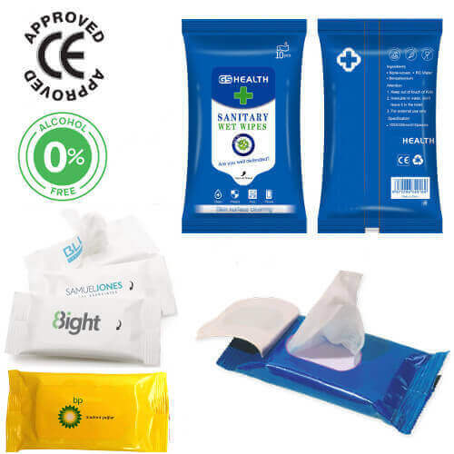 Alcohol free personalised printed Wet wipe singapore wholesale supplier