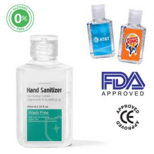 Personalised Printed Hand Sanitizer Gel 60ml Alcohol Free. FDA approved