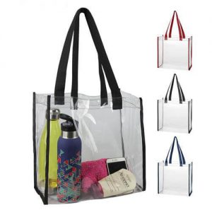 Budget promotional transparent pvc tote bag