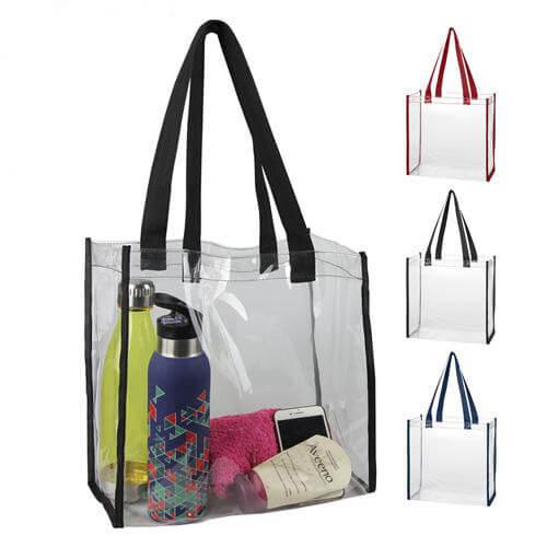 Budget promotional transparent pvc tote bag
