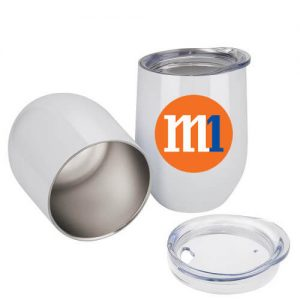 egg shaped stemless promotional cup