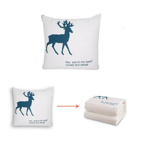 2 in 1 Cushion Blanket promotional gift wholesale singapore