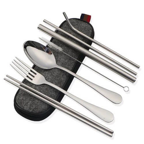 wholesale cutlery travel set stainless steel material