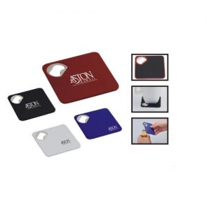 promotional coaster with bottle opener