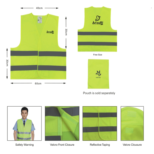 Cheap Safety vest for promotional use singapore wholesaler