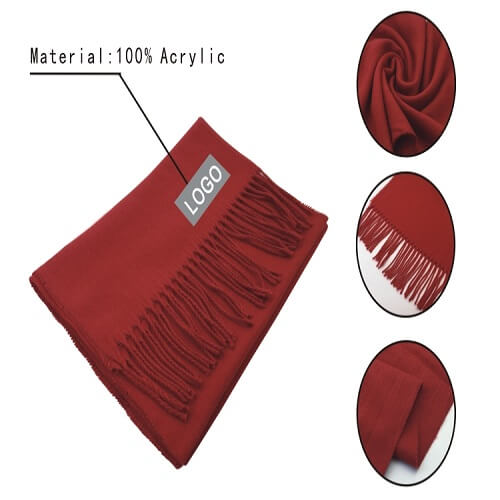 Cheap promotional red scarf singapore bulk purchase
