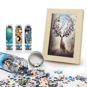custom jigsaw puzzle with frame in tube packaging wholesale