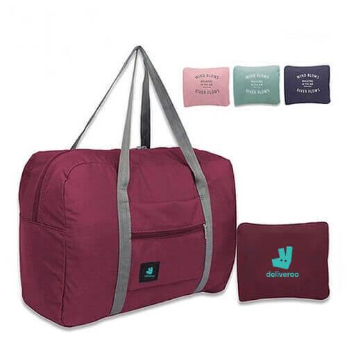 cheap custom travel foldable bag printing in singapore
