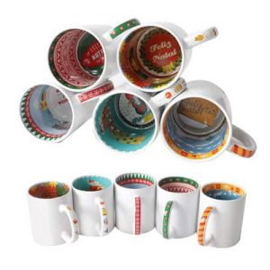Cheap custom interior print ceramic mug singapore supplier