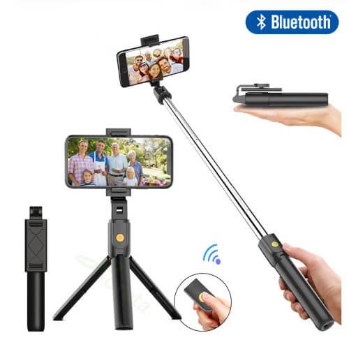 cheap 3 in 1 Bluetooth Tripod Selfie Stick singapore supplier