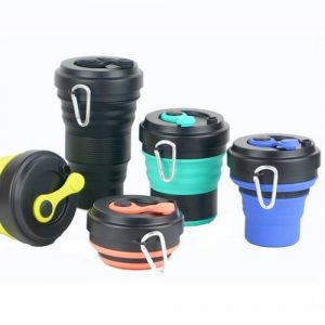 Collapsible Silicone Coffee Cup With Straw  wholesale singapore