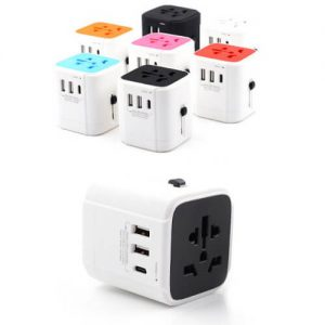 Cheap wholesale price singapore supplier dual universal travel adaptor