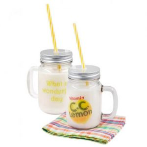 promotional glass mason jar mug wholesaler singapore