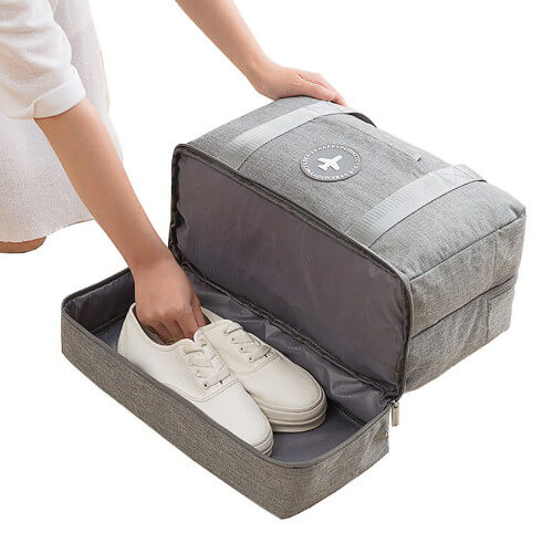 travel bag with shoe compartment customised printing supplier singapore