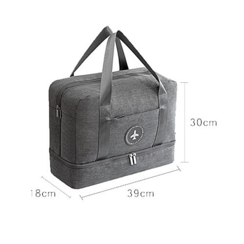 Custom made Travel Bag with shoe compartment