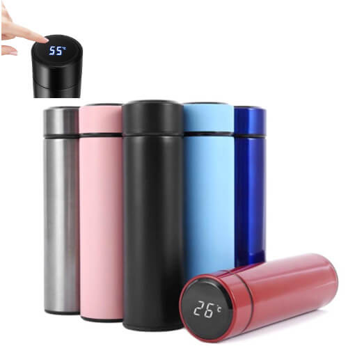 Smart Temperature reading thermal flask wholesale