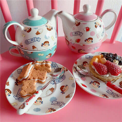 cheap 2 in 1 english teapot cum cup set gift with purchase idea singapore