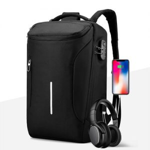 anti theft security usb charging laptop backpack