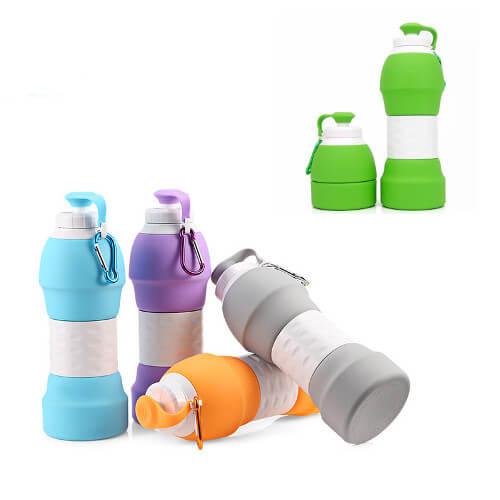 promotional custom foldable silicone water bottle singapore