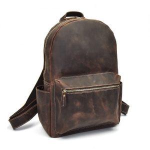 premium 100% genuine leather haversack bag with logo printing bulk sale singapore