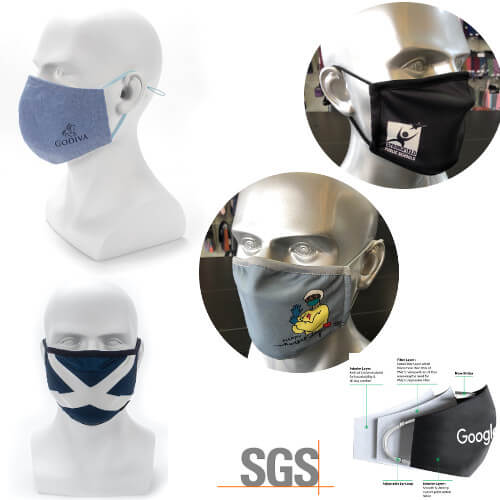 Singapore Reusable mask with custom company logo print