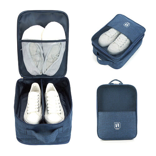 cheap customised shoe bag with company logo print