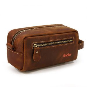premium custom leather toiletries bag wholesale singapore