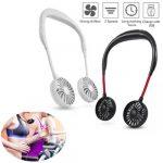 portable sport usb fan neckband fan
