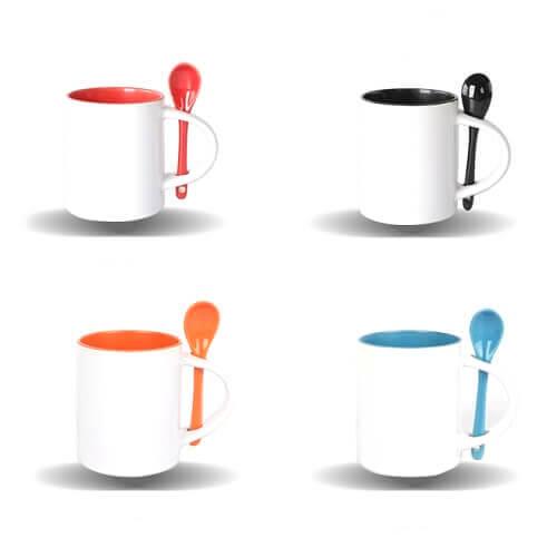 Custom Mug Printing with spoon Singapore
