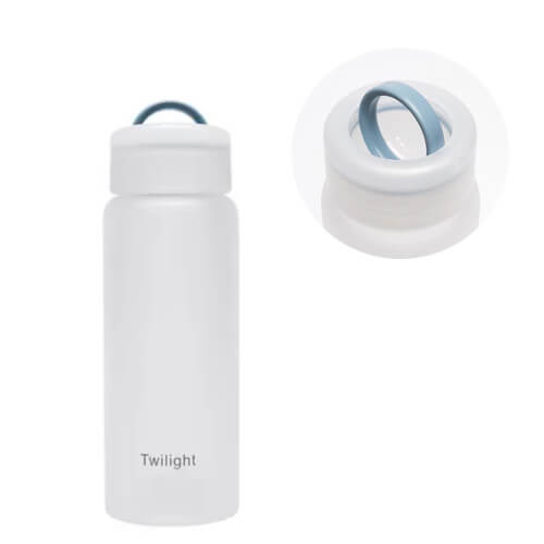 Custom logo printed Frosted Glass Water Bottle with logo print singapore