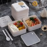 custom company logo print lunch box as gift with purchase idea