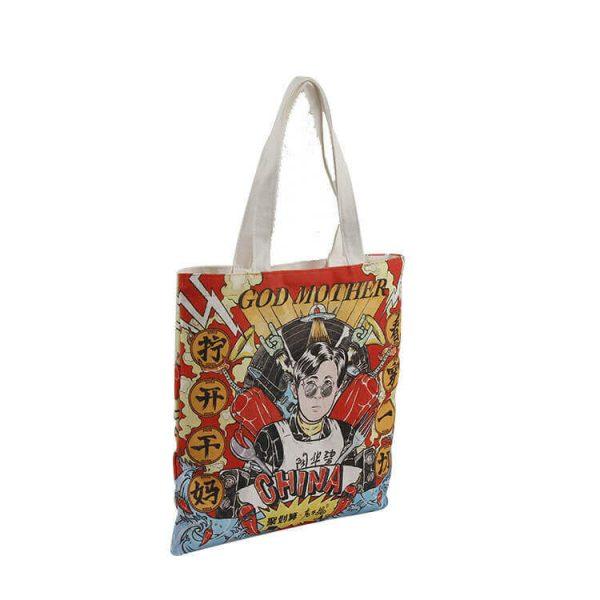 custom full color digital print tote bag singapore