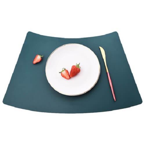 PU Leather Tableware Mat with custom logo imprint