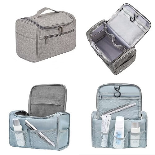 Singapore promotional Multiple compartment Toiletries Bag with logo printing