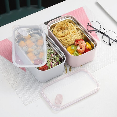 Singapore Promotional Stainless Steel Lunch Box with logo imprint