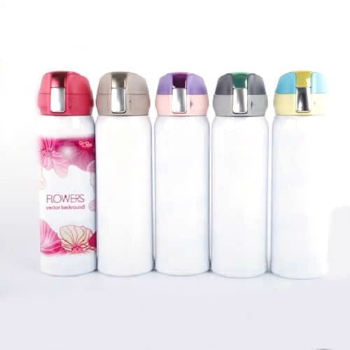 stainless steel thermal flask with company logo print