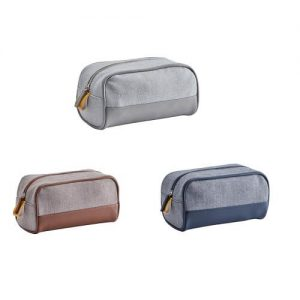 PU Leather Organizer Bag Singapore Toiletries Bag with custom logo print Main Feature 1