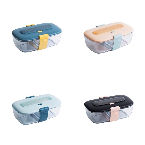 Singapore Portable Glass Container Lunch Box with logo print