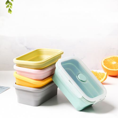 Singapore custom printed silicone collapsible lunch box