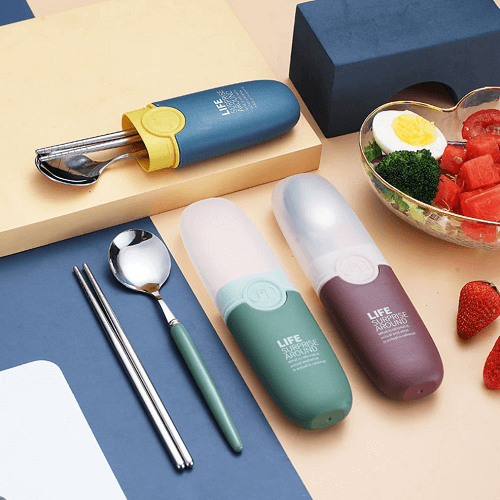 cutlery set with logo print