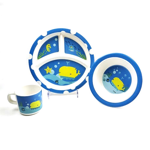 Custom Print Melamine Kids Dinnerware Set GWP