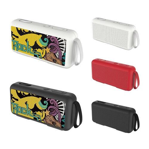 Bluetooth speaker with custom print