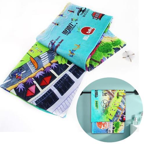 custom reactive print beach towel